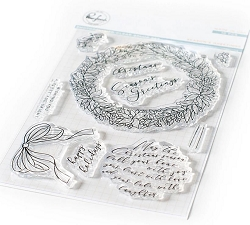 Pinkfresh Studio - Season's Greetings Clear Stamps