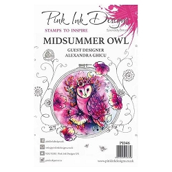 Pink Ink Designs A5 Clear Stamp Set - Midsummer Owl