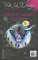Pink Ink Designs A5 Clear Stamp Set - Cow's It Going?