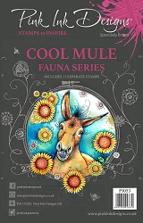Pink Ink Designs A5 Clear Stamp Set - Cool Mule