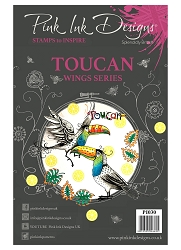 Pink Ink Designs A5 Clear Stamp Set - Toucan