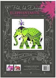 Pink Ink Designs Layered Stencils - Elephantastic
