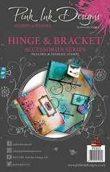 Pink Ink Designs A5 Clear Stamp Set - Hinges & Bracket