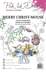 Pink Ink Designs - Merry Christ-Mouse A5 Clear Stamp Set