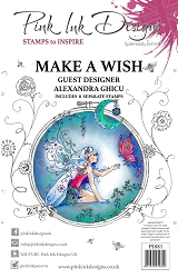 Pink Ink Designs - Make A Wish A5 Clear Stamp Set