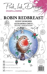 Pink Ink Designs - Robin Redbreast A5 Clear Stamp Set