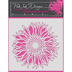 Pink Ink Designs - Sunflower Rays 8x8 Stencil
