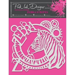 Pink Ink Designs - Zebra Stripes 8x8 Stencil