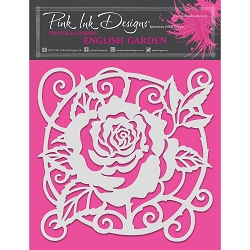 Pink Ink Designs - English Garden 8x8 Stencil