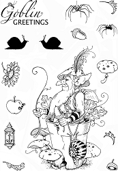 Pink Ink Designs A5 Clear Stamp Set - Oakwart Hobgoblin #1