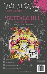 Pink Ink Designs - Buffalo Jill A5 Clear Stamp Set