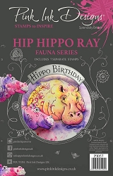 Pink Ink Designs - Hip Hippo Ray A5 Clear Stamp Set
