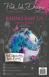 Pink Ink Designs - Rhino Saw Us A5 Clear Stamp Set