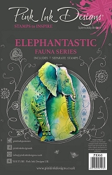 Pink Ink Designs - Elephantastic A5 Clear Stamp Set