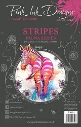 Pink Ink Designs - Stripes A5 Clear Stamp Set