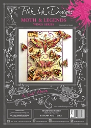 Pink Ink Designs - Moth & Legends A4 Clear Stamp Set + dies