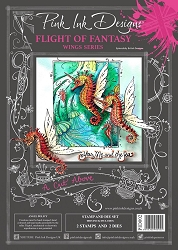 Pink Ink Designs - Flight Of Fantasy A4 Clear Stamp Set + dies