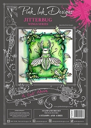 Pink Ink Designs - Jitterbug A4 Clear Stamp Set + dies