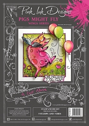 Pink Ink Designs - Pigs Might Fly A4 Clear Stamp Set + dies