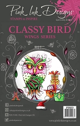 Pink Ink Designs A5 Clear Stamp Set - Classy Bird
