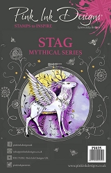 Pink Ink Designs A5 Clear Stamp Set - Stag