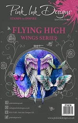 Pink Ink Designs A5 Clear Stamp Set - Flying High