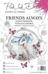 Pink Ink Designs - Friends Always A5 Clear Stamp Set