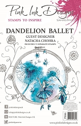 Pink Ink Designs - Dandelion Ballet A5 Clear Stamp Set