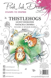 Pink Ink Designs - Thistlehogs A5 Clear Stamp Set
