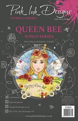 Pink Ink Designs - Queen Bee A5 Clear Stamp Set