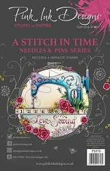 Pink Ink Designs - A Stitch In Time A5 Clear Stamp Set