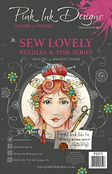 Pink Ink Designs - Sew Lovely A5 Clear Stamp Set
