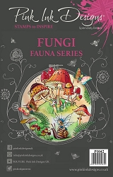 Pink Ink Designs A5 Clear Stamp Set - Fungi