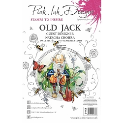 Pink Ink Designs - Old Jack A5 Clear Stamp Set