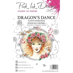 Pink Ink Designs - Dragon's Dance A5 Clear Stamp Set