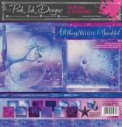 Pink Ink Designs - All Things White & Beautiful 8x8 Paper Pad