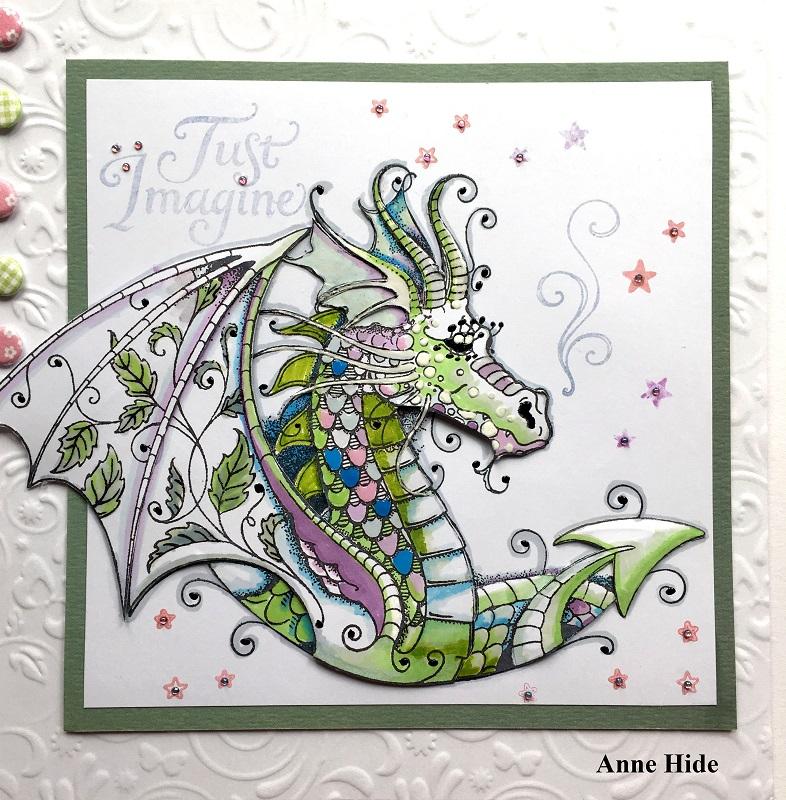 Pink Ink Designs A5 Clear Stamp Set Dragon