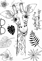 Pink Ink Designs A5 Clear Stamp Set - Giraffe