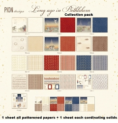 Pion Design - Long Ago In Bethlehem Collection Pack (1 each papers + 1 each coordinating solids)