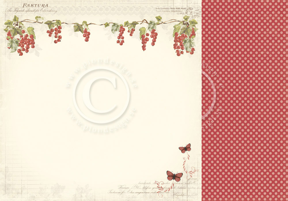 Pion Designs Siri S Kitchen 12 X12 Double Sided Cardstock Red Currants