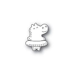 PoppyStamps - Die - Whittle Floating Hippo