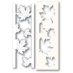 PoppyStamps - Die - Maple Leaf Side Strips and Stencil