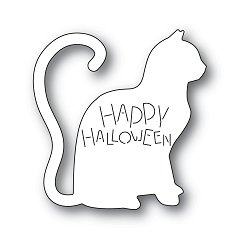 PoppyStamps - Die - Happy Halloween Cat
