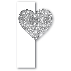 PoppyStamps - Die - Floral Lace Heart Split Border