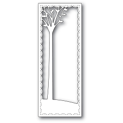 PoppyStamps - Die - Tall Skyline Tree Frame