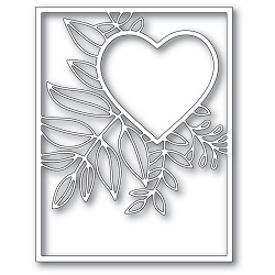 PoppyStamps - Die - Graceful Heart Frame