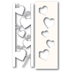 PoppyStamps - Die - Curvy Heart Side Strips and Stencil