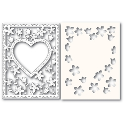 PoppyStamps - Die - Meadowblossom Frame and Stencil