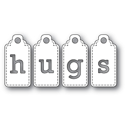 PoppyStamps - Die - Hugs Tags