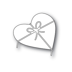 PoppyStamps - Die - Heart and Bow